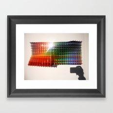 Rainbow Sculpture Framed Art Print