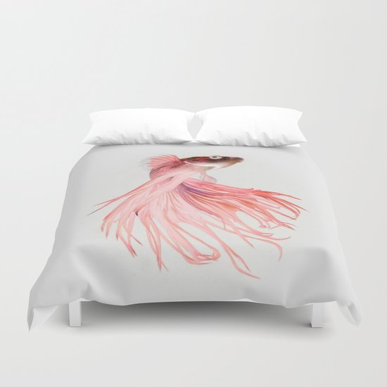 Betta splendens Duvet Cover