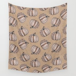 Fall Feels Pumpkin Pattern - Halloween Vibes Wall Tapestry