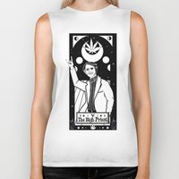sagan Biker Tanks featuring HAIL SAGAN! by LADYMAGICUNICORN
