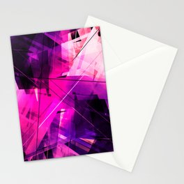 Rebellious Reflections - Geometric Abstract Art Stationery Cards