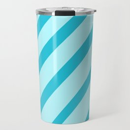Minty Stripes Travel Mug
