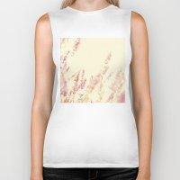 lavender Biker Tanks featuring Lavender by Ana Guisado