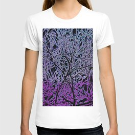 Tangled Tree Branches in Purple and Pink T-shirt