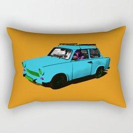 Trabant blue pop Rectangular Pillow