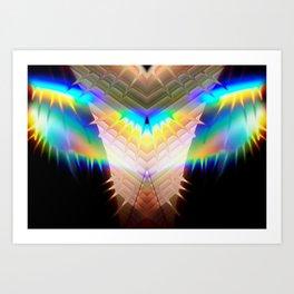 Rainbow Daydream Crescendo Art Print