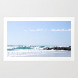 A Day at the Beach 3 Art Print
