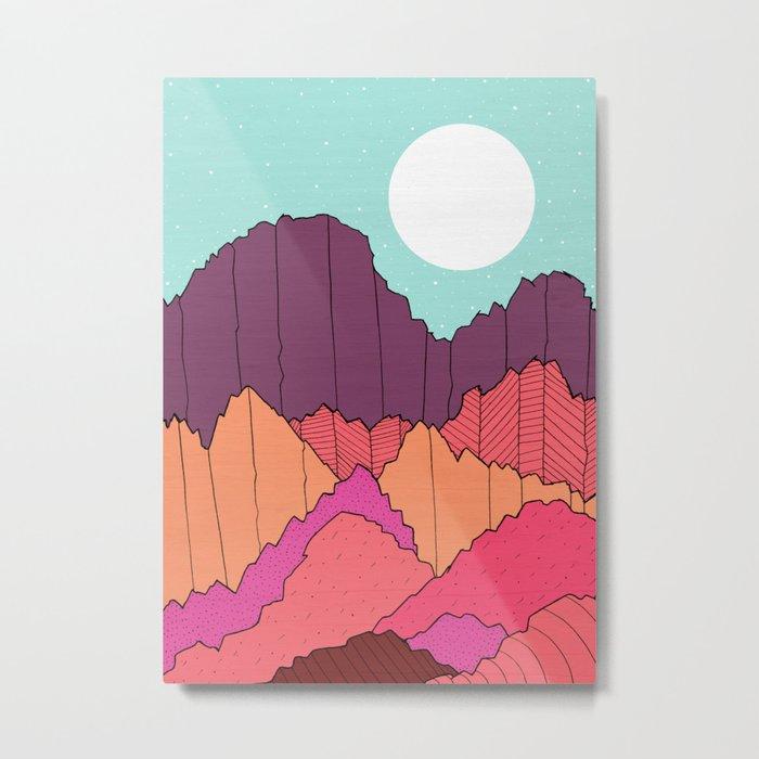 Mountain Cliffs  Metal Print