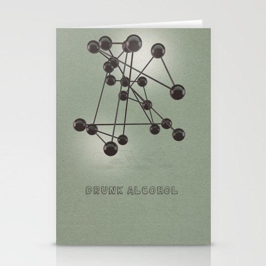 Drunk Alcohol Stationery Cards
