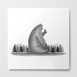 Giant Bear Metal Print