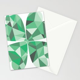 Geometric Clover Stationery Cards
