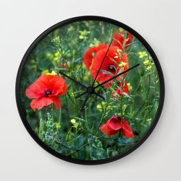 Summer Wild Flowers  Wall Clock