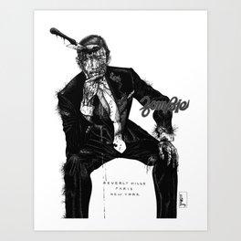Zombie Bespoke (With Copy) Art Print