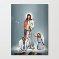 christ Canvas Prints featuring Jesus Christ by Georgi Minkov