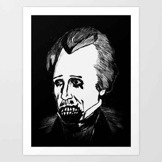 07. Zombie Andrew Jackson  Art Print