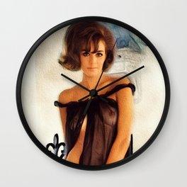 Vintage Pinup Woman Wall Clock