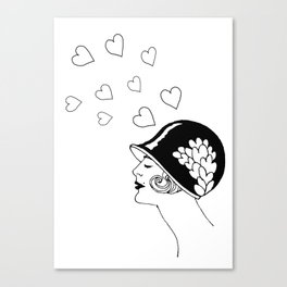 Love Thoughts, Fashion from  the 20's  Canvas Print