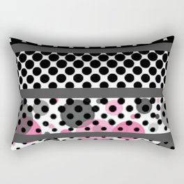 Design Pink and Black Rectangular Pillow