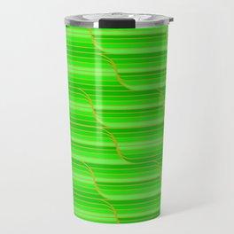Geo Stripes - Green Travel Mug