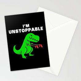 I am unstoppable | Dinosaur Tyrannosaurus Rex Stationery Cards