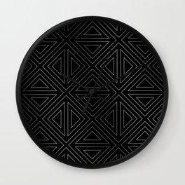 Angled Black & Silver Wall Clock