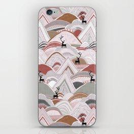 caribou mountains sienna iPhone Skin