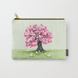 Bunny Blossom Tree Carry-All Pouch