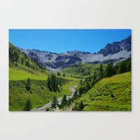 switzerland Canvas Prints featuring Switzerland by Claudio Del Luongo
