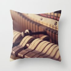Le Vieux Piano Throw Pillow