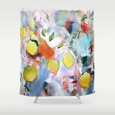 When Life Gives You Lemons, Paint Them Shower Curtain