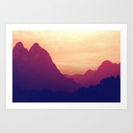 Mountain Twins Art Print