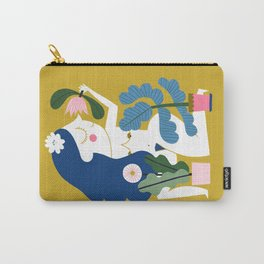 Blue Plant Lady Carry-All Pouch