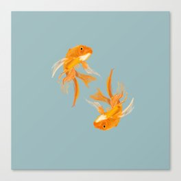 Fishy Business (Blue) Canvas Print