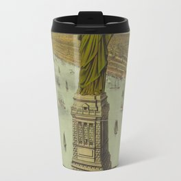 Currier & Ives. - Print c.1885 - Statue of Liberty 2 Travel Mug