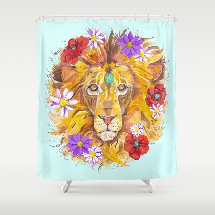 Rise Like A Lion Shower Curtain By Jessicatamardeutsch