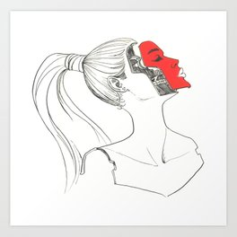 FaceOff Art Print