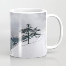 Views of Derwent Water from Latrigg, covered in snow. Cumbria, UK. Mug