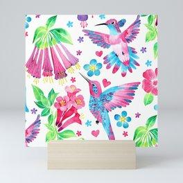 Humming Bird Garden Mini Art Print
