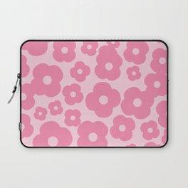 wild flowers pink pattern Laptop Sleeve