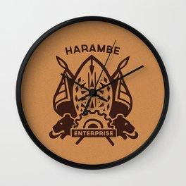 Harambe Crest Wall Clock