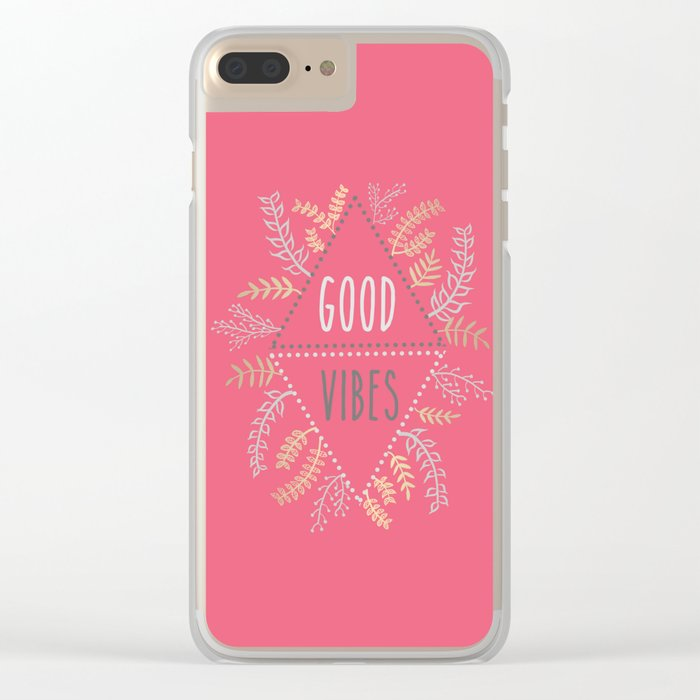 GOOD VIBES #1 Clear iPhone Case