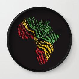 Reggae Africa Wall Clock