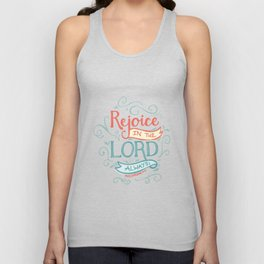 Rejoice in the Lord Unisex Tank Top