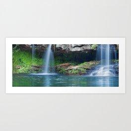 Waterfalls at Fern Pool in Karijini National Park, Western Australia Art Print