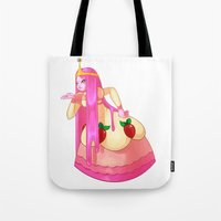 princess bubblegum Tote Bags featuring Princess Bubblegum by Parapoozle