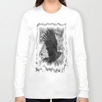 crow Long Sleeve T-shirts featuring crow by Vector Art