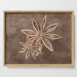 Star Anise Spice Serving Tray