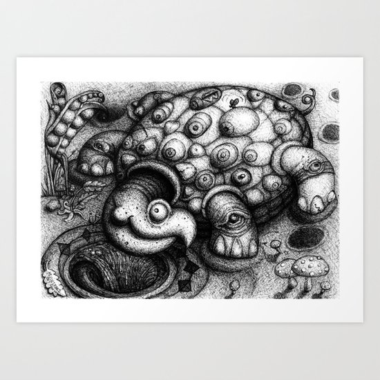 Eye Turtle Art Print