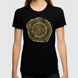 Paper Birch – Gold Tree Rings T-shirt