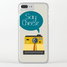 Say Cheese Clear iPhone Case